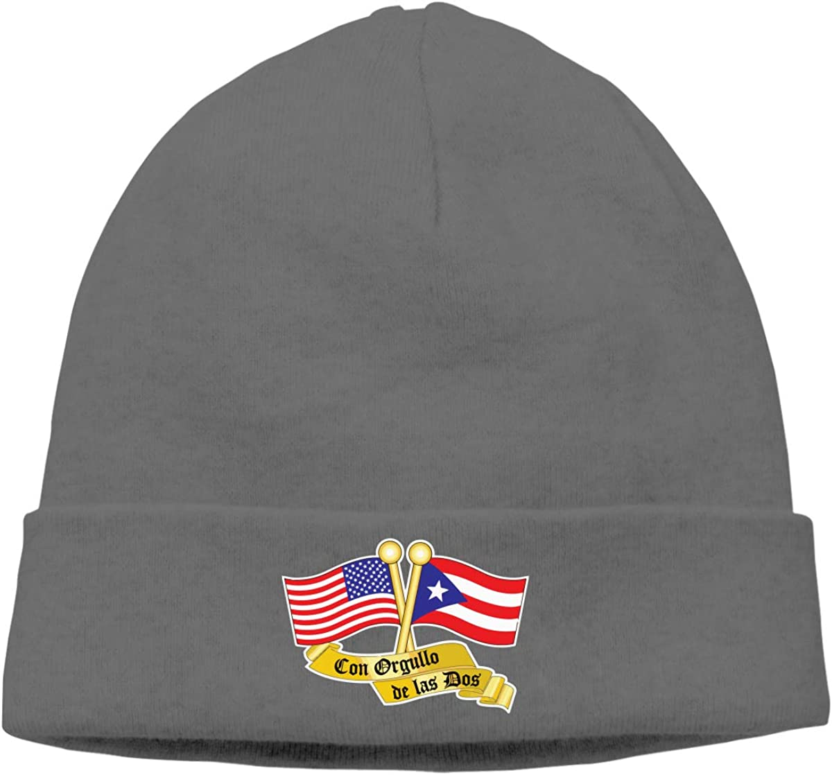 BBlooobow Unisex Puerto RICO /& USA Flag Soft Knit Beanie Caps