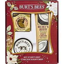 Burt's Bees Best of Burt's Gift Set, 3 Hand & Feet Products - Coconut Foot Cream, Almond Milk Hand Cream and Lemon Butter Cuticle Cream