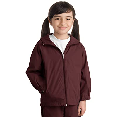 Sport-Tek Youth Stylish Sporty Hooded Raglan Sleeve Jacket, Maroon