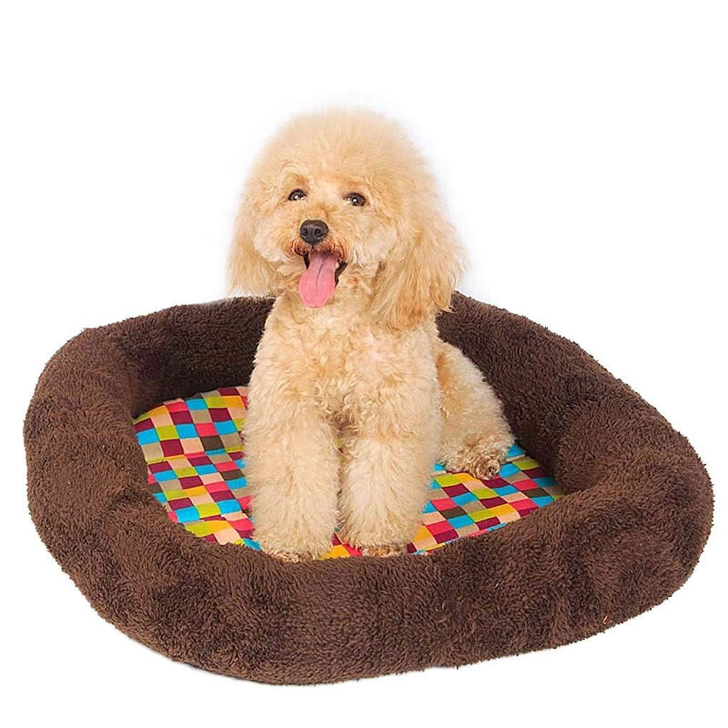 S SuyunPP Dog Mats Dog Beds Cat Beds Pet Nests Four Seasons Cats Kennel Sleeping Mats Winter Mattresses colorful Checkered Pets