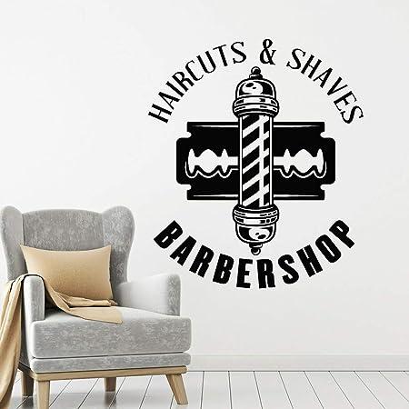 wukongsun Barber Shaving Barber Shop Logo Etiqueta de la ...