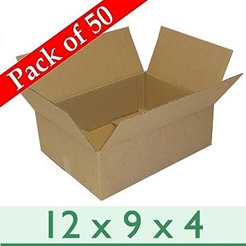 Paquete de 50 cajas de cartón para embalaje de tamaño A4, capa única, 305 mm x 229 mm x 102 mm: Amazon.es: Hogar