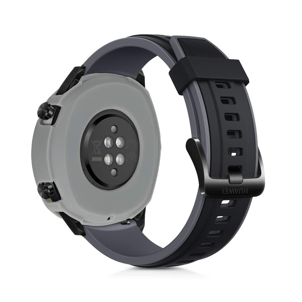 kwmobile 2 Fundas para Huawei Watch GT - Cubierta para Monitor de Actividad de Silicona - Case Negro/Gris