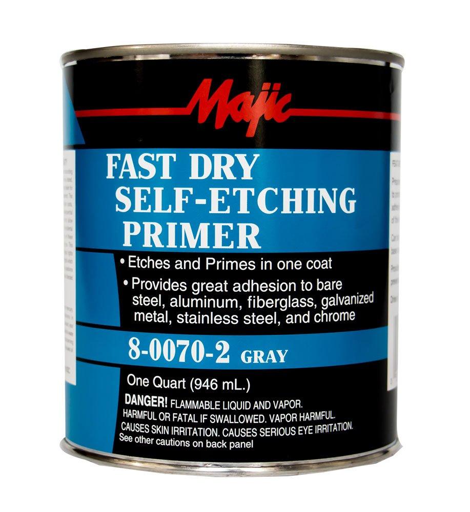 Majic Paints 8-0070-2 Self Etching Primer, 1-Quart, Gray