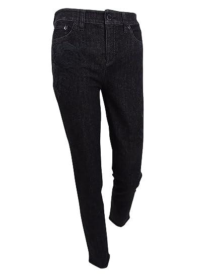 97a3da0d91 LAUREN RALPH LAUREN Womens Curvy Fit Classic Rise Skinny Crop Jeans