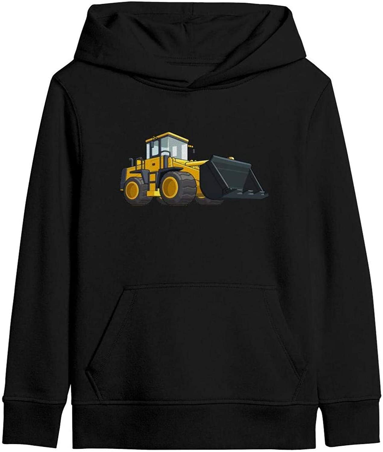 PANZHIHUA Kids Pullover Hoodie Big Pockets Plus Velvet Lined Thick Hoody Sweatshirt for Teen Girls Boys