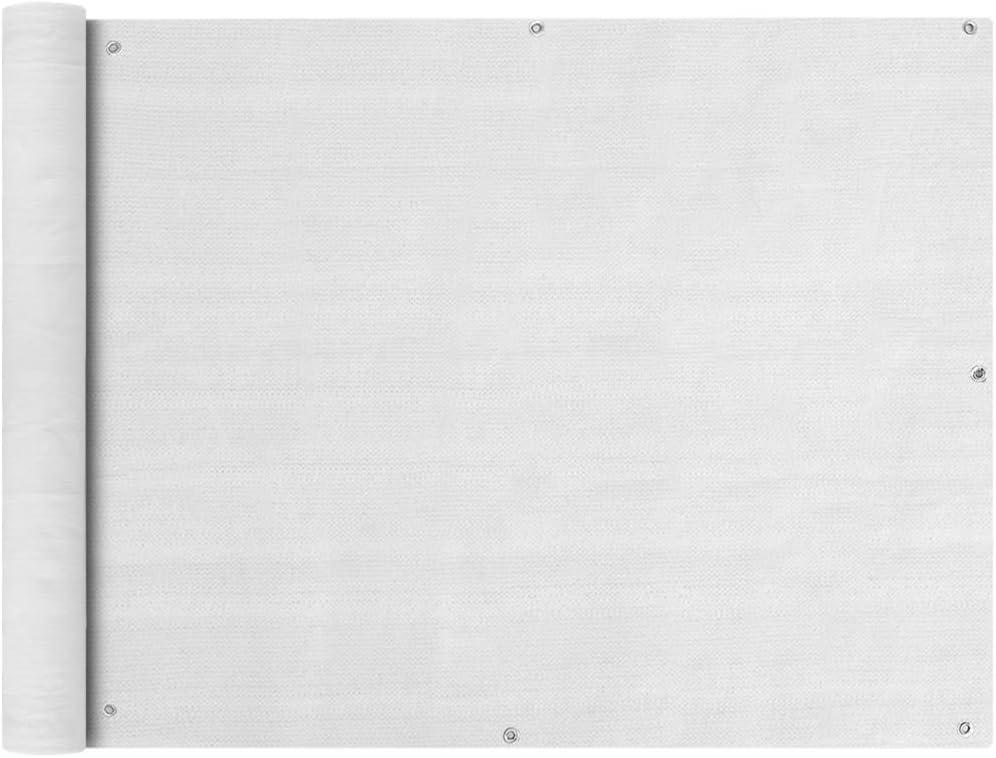 vidaXL Balkonverkleidung HDPE 90x400cm Balkonsichtschutz Balkonbespannung