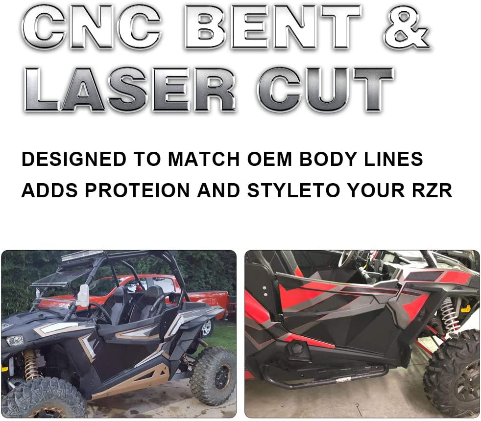 Lower Door Insert Panels compatible for RZR Turbo Turbo S 2016-2020 RZR XP 1000 2014-2020
