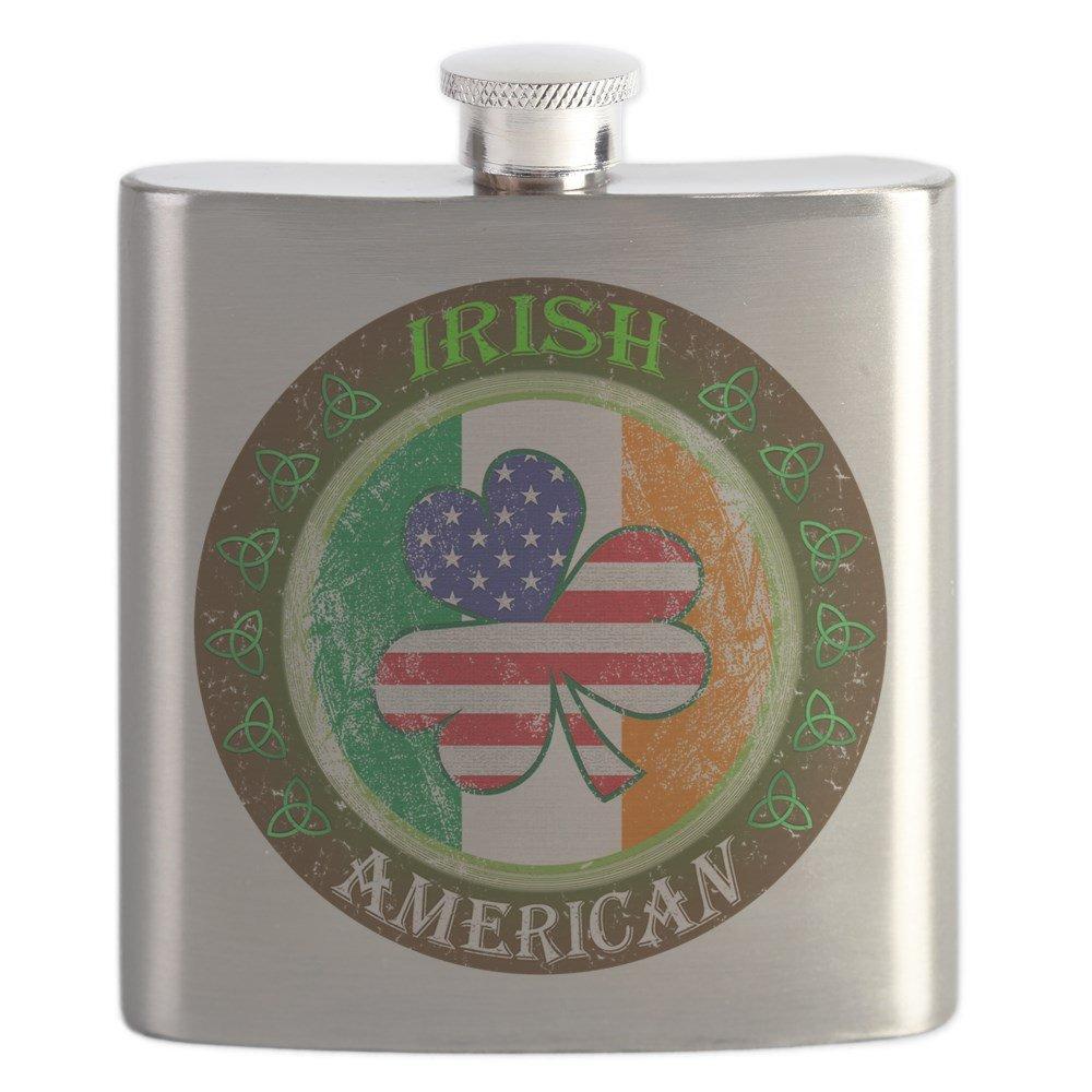 優れた品質 CafePress – Irish American – – ステンレススチールフラスコ、6オンスDrinkingフラスコ – CafePress B0742DH332, ペットかぐ家具:f30db83e --- a0267596.xsph.ru