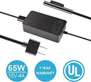 65W 15V 4A AC Power Charger Adapter Supply (Suitable for 44W, 36W,24W) for Microsoft Surface Book Surface Pro 3,4,5,6 Surface Go Surface Laptop 2 with USB Charging Port and 6ft Cord, fit Model 1706