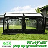 Quictent Pop up Greenhouse Passed SGS Test Eco-friendly Fiberglass Poles Overlong Cover 6 Stakes...