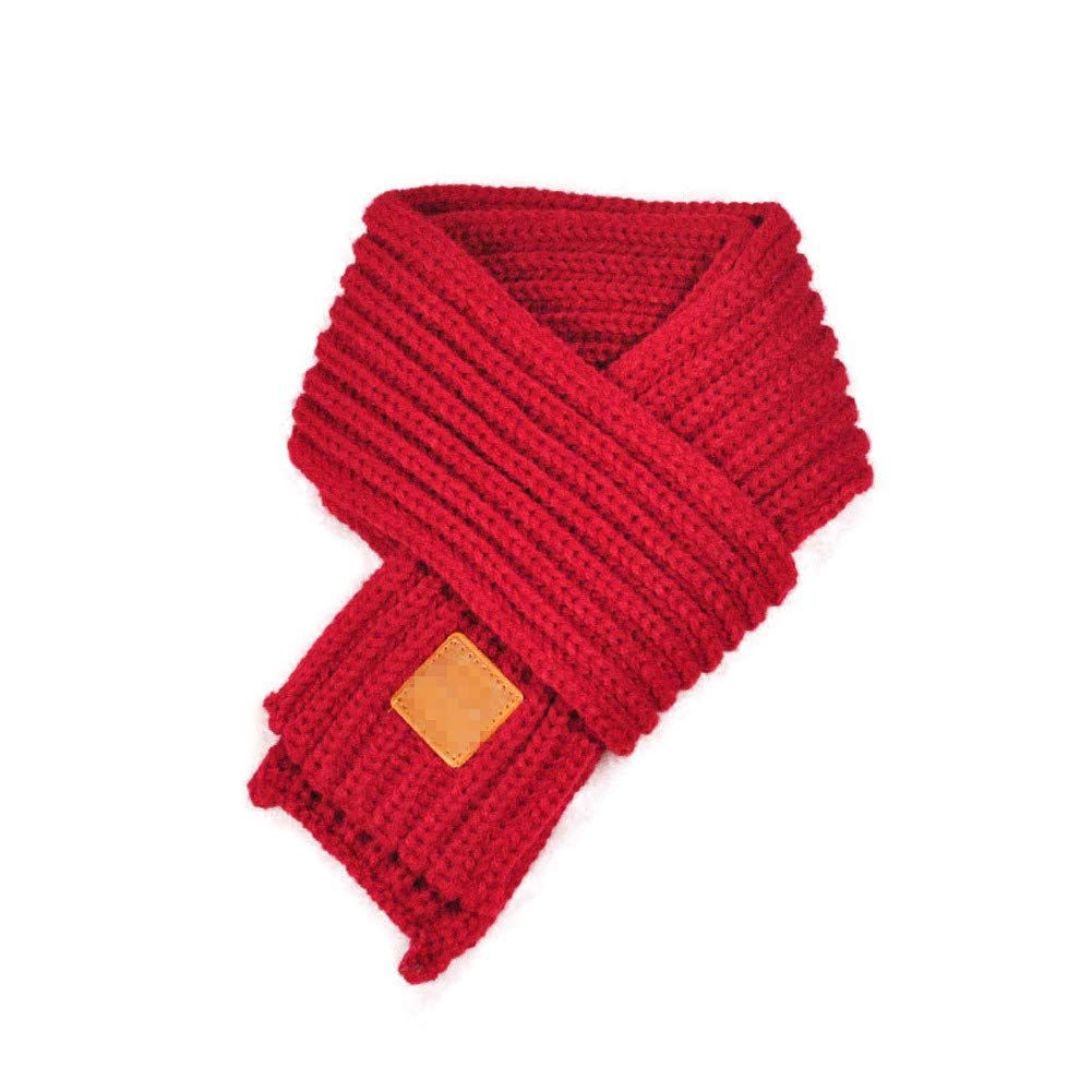 Kipten Children's Winter Warm Knit Scarf Fashion Soft Solid Color Scarf