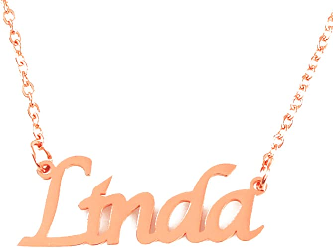 18ct Gold Plated Zacria Fiona Custom Name Necklace Personalized