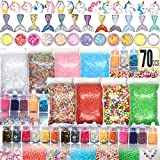 70PCS Slime Add Ins Slime Kit Floam Beads Fish Bowl Beads Mreaind Unicorn Slime Charms Glitter Jars Slime Supplies Kit