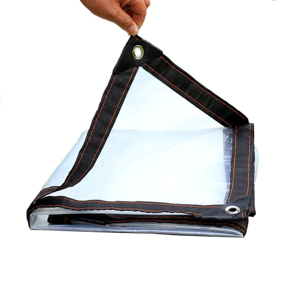 透明防水シート防水シート雨の厚い透明な透明の穴あき絶縁フィルムキャンバスプラスチック温室防水マルチサイズオプション (サイズ さいず : 2*8m) 2*8m  B07PJP3R4V