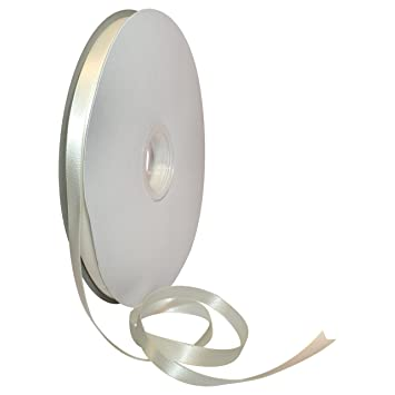 3//8 by 100 yd White Morex Ribbon Double Face Satin Ribbon