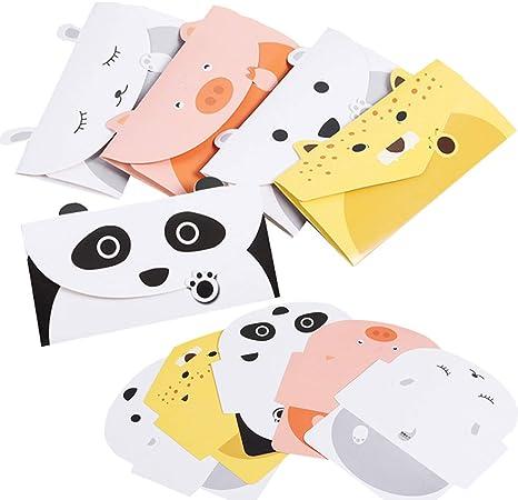 40PCS Tarjeta de Felicitación Liuer Feliz Cumpleaños Tarjetas Adorables Bonitos invitaciones tiernamente ilustradas para niñas Tarjetas