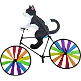Kites Bike Wind Spinner for Outdoor Decor, Animal Pinwheels Yard Art Whirly Garden Stakes Decorations Lawn Ornaments Decorati
