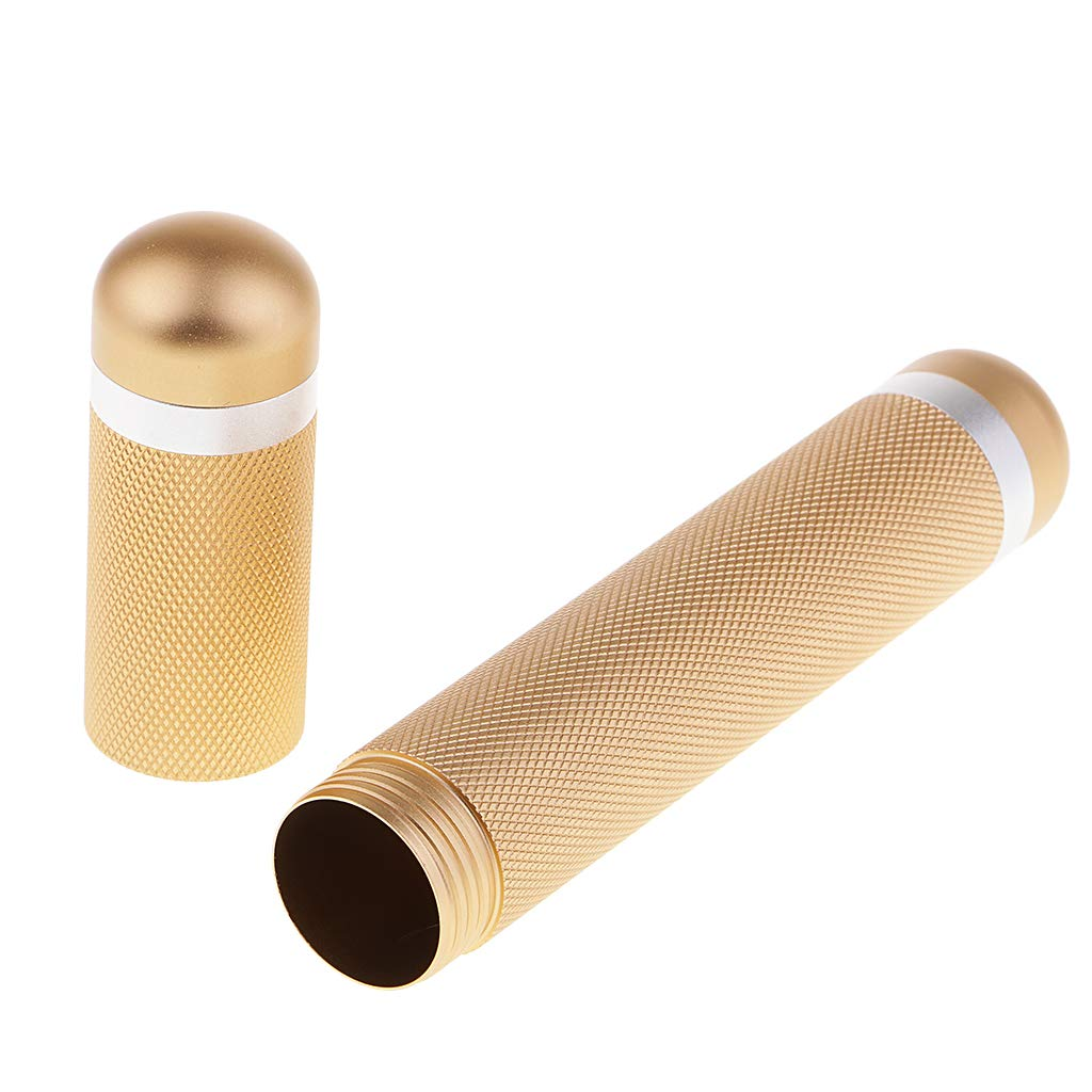 Golden 170mm P Prettyia Travel Carry Vintage Metal Grinding Tobacco Cigar Pipe Holder Humidor Tube Case 170mm