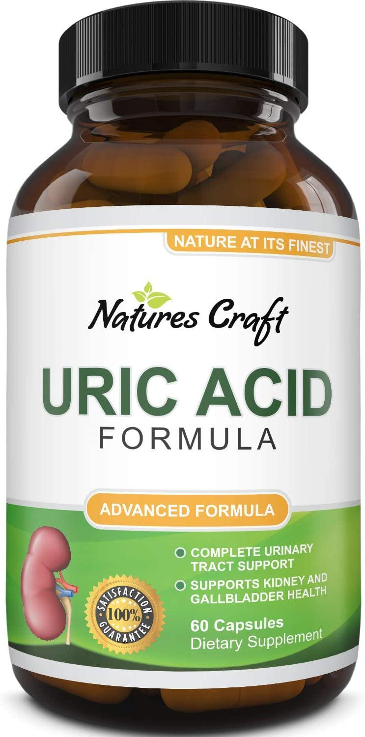 Uric Acid Kidney Support Vitamins for Men and Women – Herbal Cleanse Detox for Joint Comfort Muscle Recovery Pure Tart Cherry Milk Thistle and Bromelain Antioxidant Dietary Supplement: Health & Personal Care