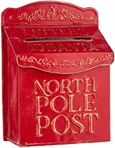 "RAZ Imports Home for The Holidays 13.75"" North Pole Post Mail Box"