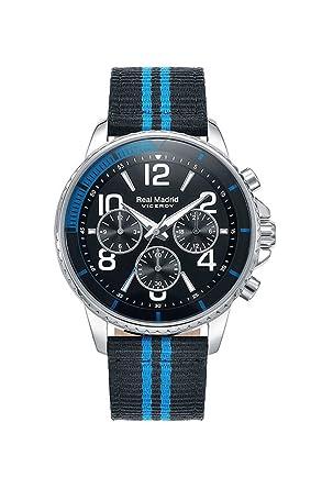 Viceroy Reloj Multiesfera para Hombre de Cuarzo con Correa en Nailon 42307-57: Amazon.es: Relojes
