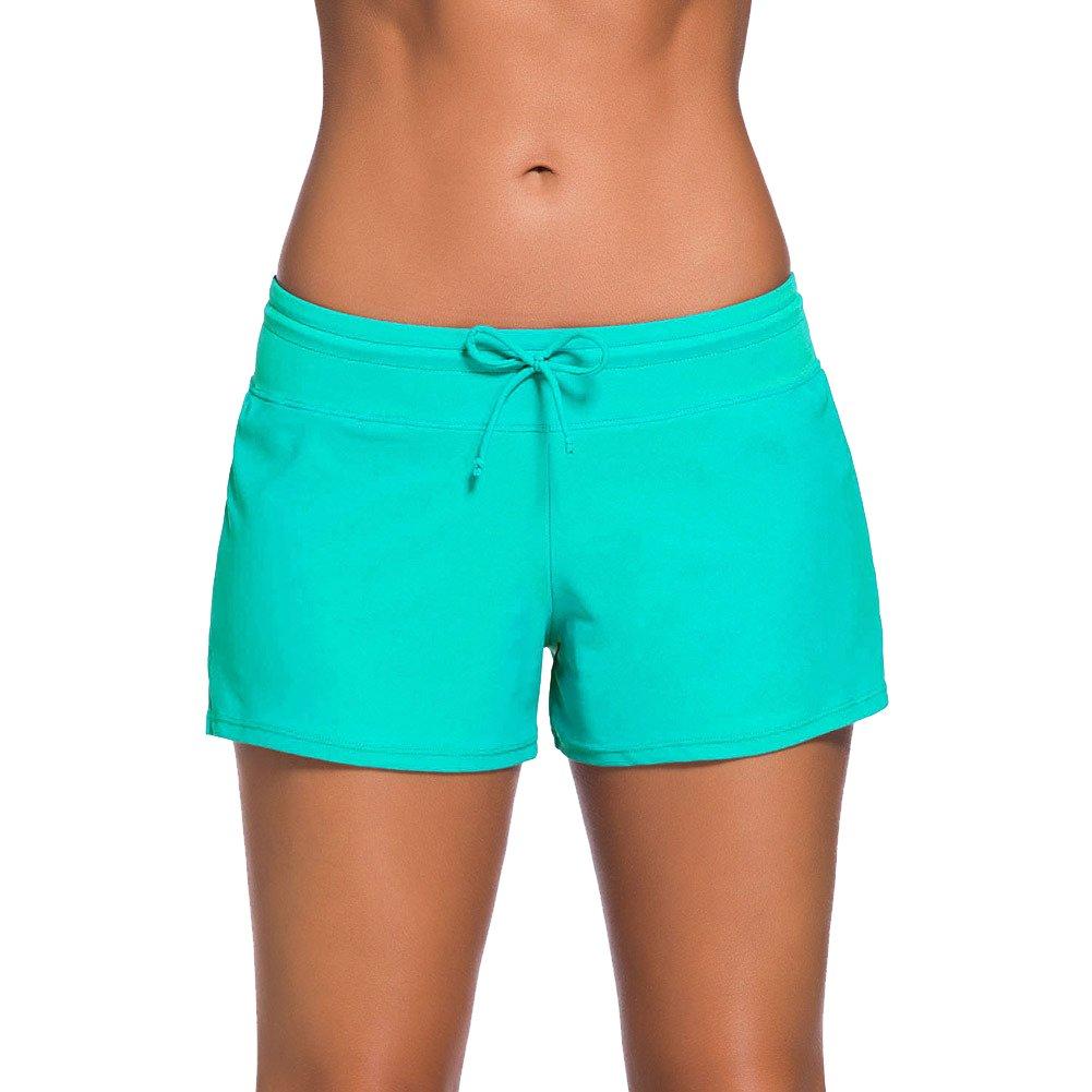 Imbry Womens Plus Size Swim Trunks Swimsuit Tankini Bottom Board Shorts