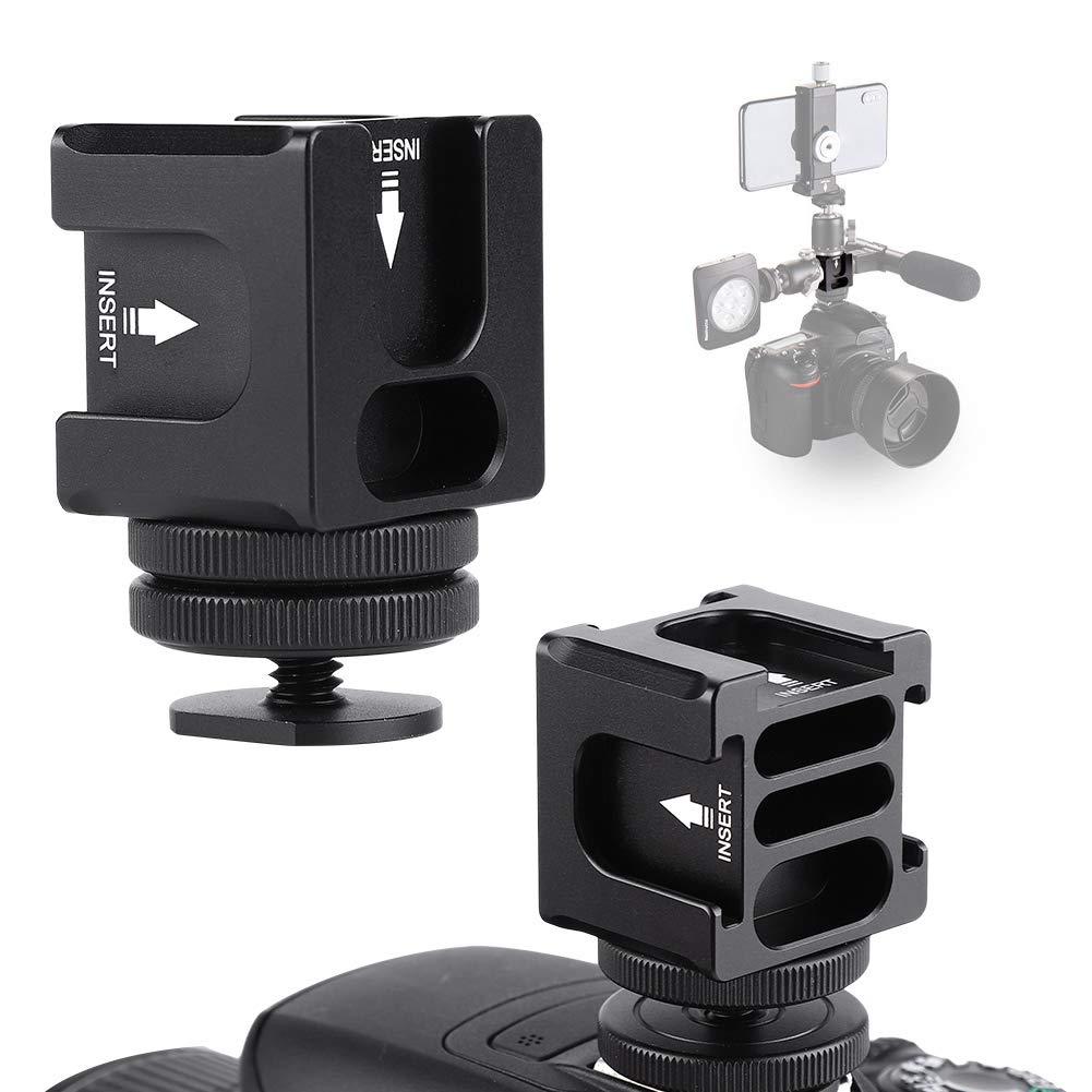 Serounder VBESTLIFE FS-04 カメラ回転PT 4ヘッド多機能ホットシューブラケット 内蔵バックストップ B07PPHGKYC