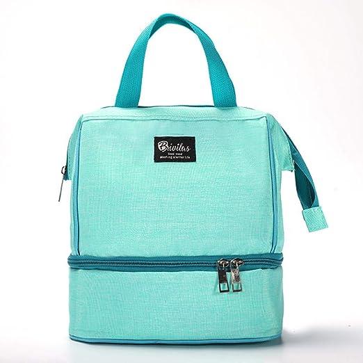Bolsa de Almuerzo Segura no tóxica,Portable Insulated Lunch Bag, Thick Ice Pack Picnic Bag,Green,para Hombres, niñas, niños, Picnic al Aire Libre, Trabajo: Amazon.es: Hogar