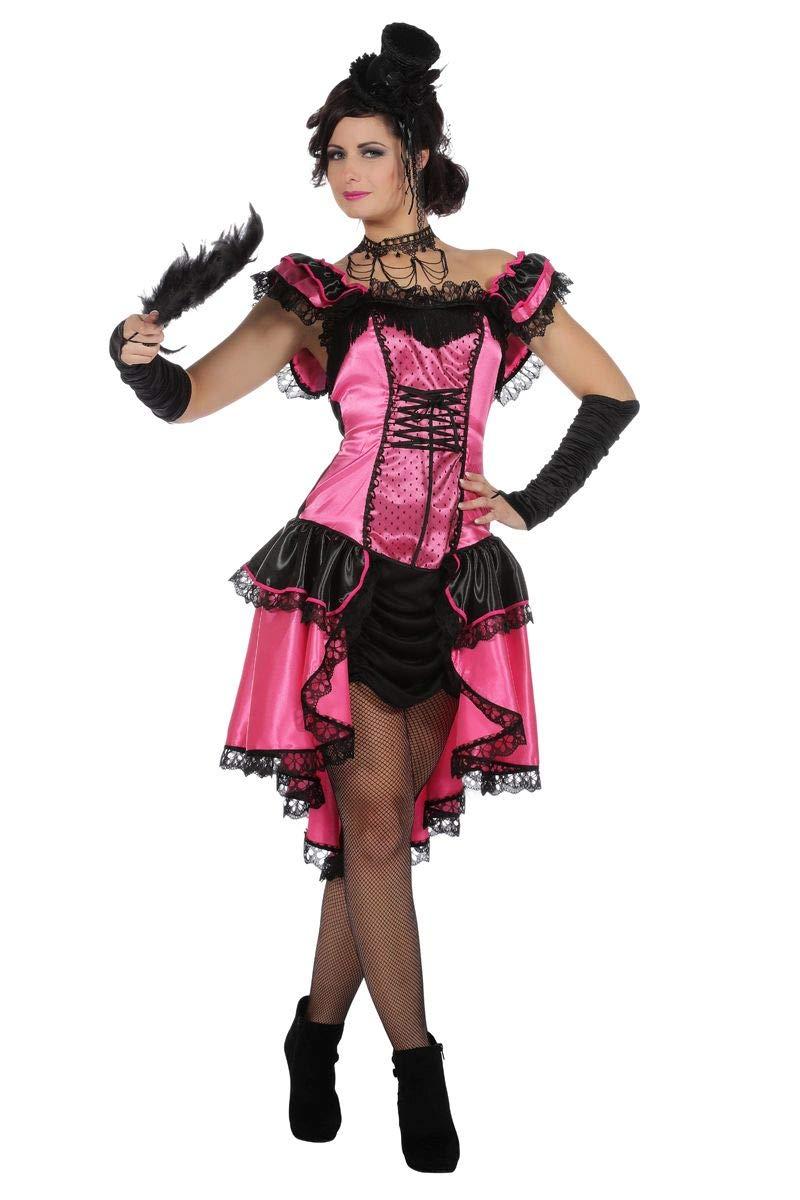 Wilbers Can Can Girl Kostüm Saloon Damenkostüm Damen Show Tanz Burlesque Karneval Pink Pink 34
