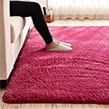 Super Soft Wine Red Area Rug Kids Rugs Artic Velvet Mat with Plush and Fluff for Bedroom Floor Bathroom Pets Home Hotel Mat Rug (2' x 4', Wine Red)