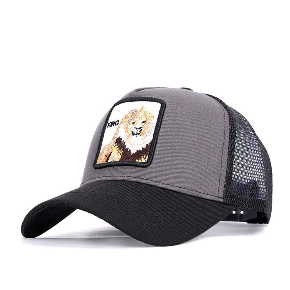 Adjustable Snapback Hiphop Animal Pattern Embroidery Mesh Unisex Sun Cap Baseball Hats
