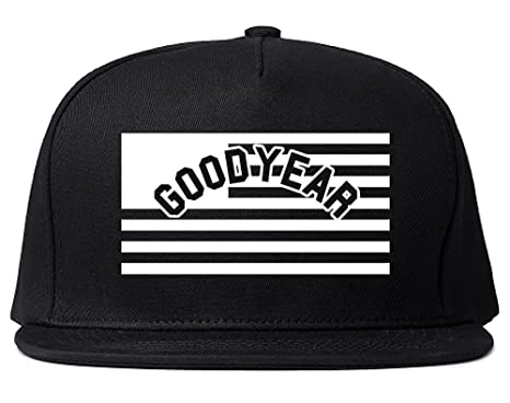 city of goodyear with united states flag snapback hat cap black