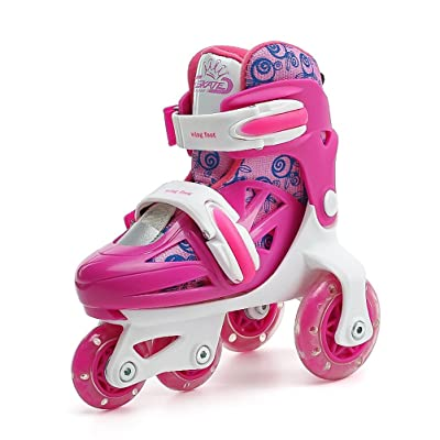 ONEKE Roller Skates for Kids Boys Girls Adjustable Rollerblades Outdoor Skating Shoes for Beginners Advanced Safe and Durable Rollerblades : Sports & Outdoors