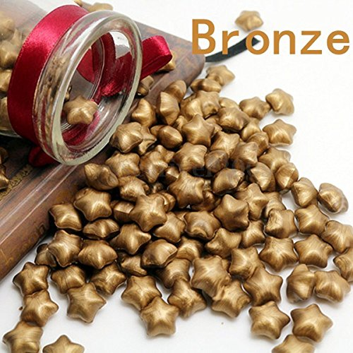 Wax Seal,PUQU 100Pcs Star Shaped Wax Sealing Beads for Sealing Stamp Invitation Letter,Bronze