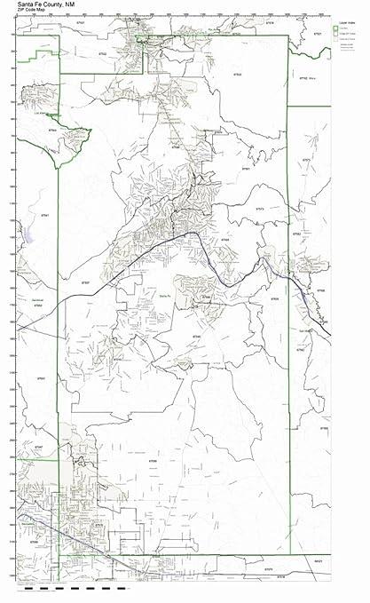 Amazon Com Santa Fe County New Mexico Nm Zip Code Map Not