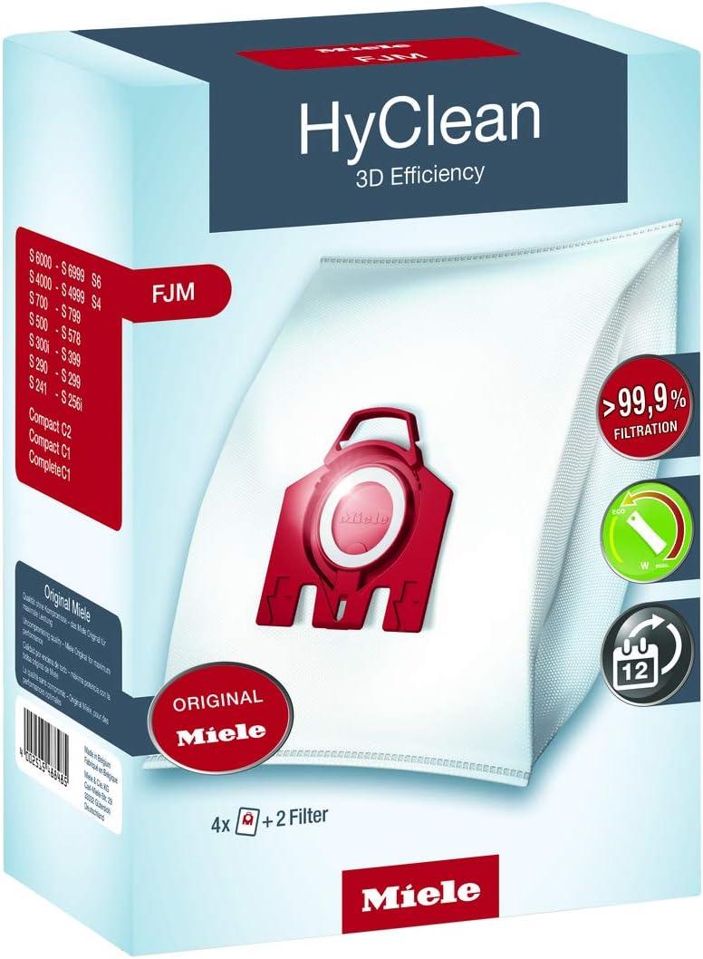 Miele HyClean 3D Efficiency, 4 Bolsas Recogepolvo y 2 Filtros