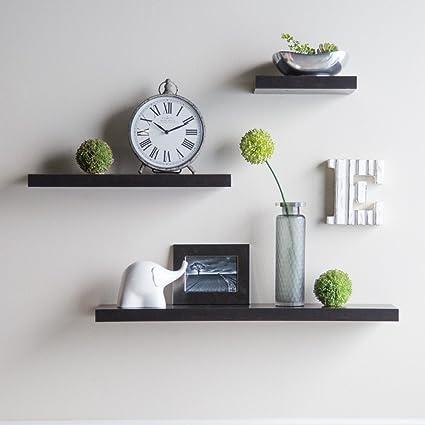 amazon com hudson easy mount floating shelves 3 pk 36 in 24 in rh amazon com easy wall shelves to make easy homemade wall shelves