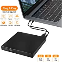 External DVD Drive, Portable USB2.0 CD Burner Ultra Slim CD-RW Player Optical DVD Drive Plug and Play for MPC Laptop MacBook Windows XP/Win 7/Win 8/Win 10/Vista/Linux/Mac OS