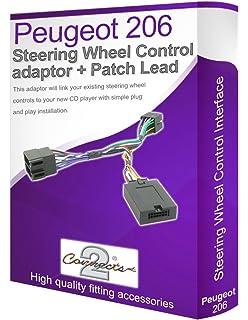 Connects2 - Cable adaptador para reproductor de audio de Peugeot 206 (conecta los controles del