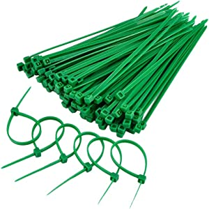 eBoot 100 Pieces 4 Inch Nylon Cable Ties, Green