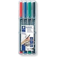Staedtler Lumocolor 318 Fine Line Permanent Pen - Multicolor Body, Multicolor Ink, Pack Of 4
