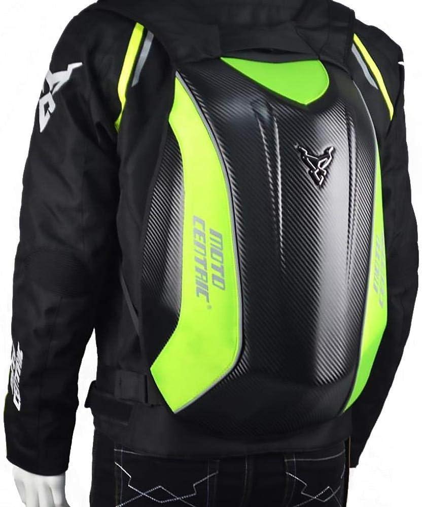 Decaden Carbon Fiber Motorcycle Backpack,Riding Laptop Bag Bike Travelling Camping Cycling Backpack Kawasaki Turtle Bag