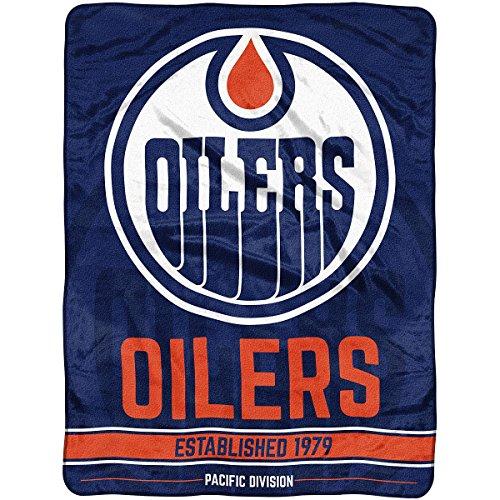 Officially Licensed NHL Edmonton Oilers Break Away Micro Raschel Throw Blanket, 46