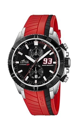 Lotus 18103/5 - Reloj de Pulsera Hombre, Caucho, Color Rojo: Lotus: Amazon.es: Relojes