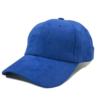 8719ff10f40 Image Unavailable. Image not available for. Color  Men and Women s Faux  Suede Adjustable Strap Dad Cap Style Hat - Royal Blue Color