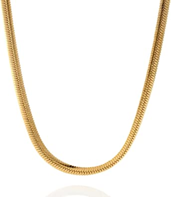 1mm 18K Gold Plated Sterling Silver 925 Italian SNAKE Chain Necklace Bracelet