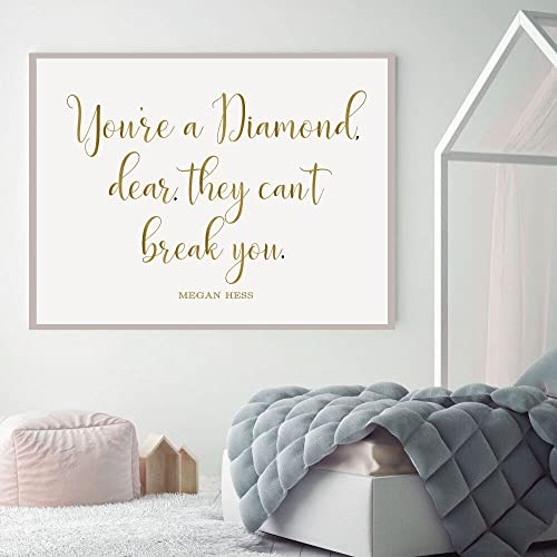 Wall Decals for Teen Girls - Youu0027re A Diamond Dear. They Can & Amazon.com: Wall Decals for Teen Girls - Youu0027re A Diamond Dear ...
