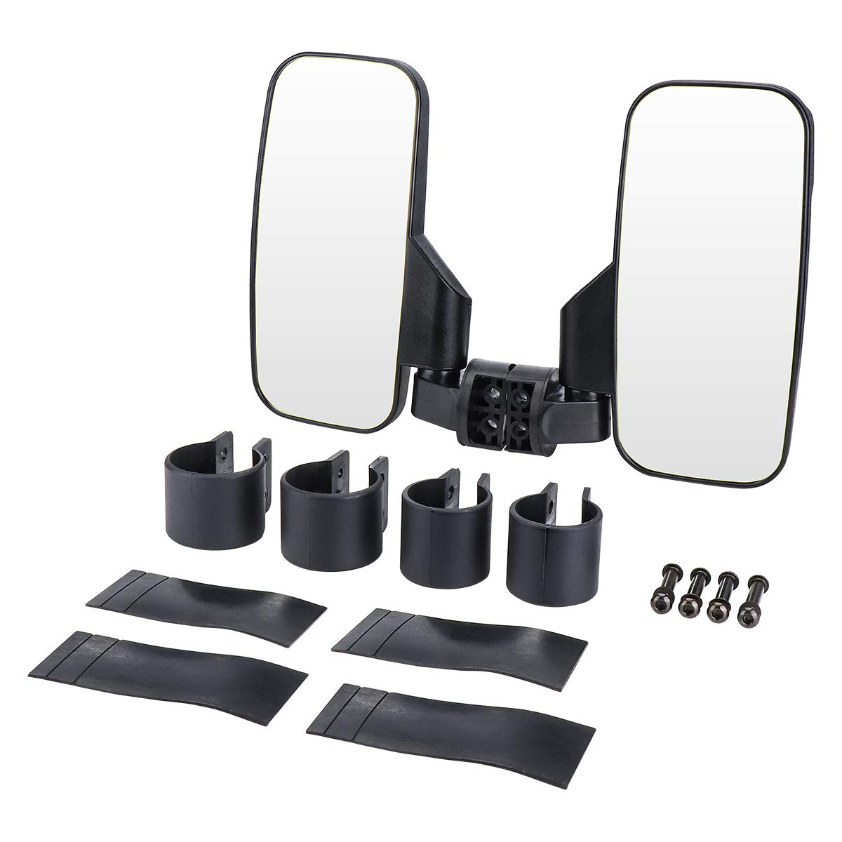 UTV Mirror Set ISSYZONE 15 Wide High-Definition UTV Rear View Center Mirror /& Rear View Side Mirror with 1.75-2 Inch Mount for Polaris RZR