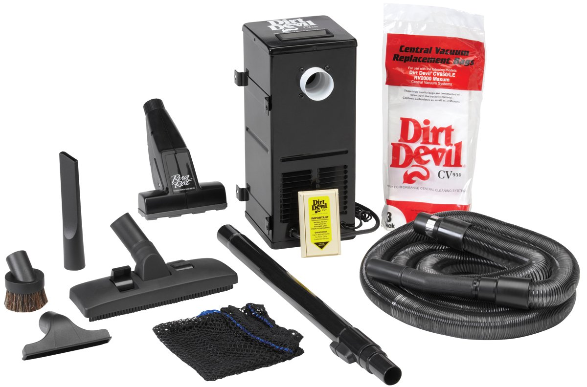 HP Products 9614 Black All-in-One Central Vacuum System H-P Products